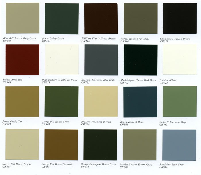 benjamin moore paint color chart